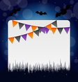 Halloween invitation with hanging flags vector