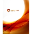 Fire orange abstract swirl template vector