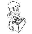 Girl scout cookies outline vector