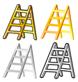 Different styles of ladder sets vector