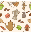 Seamless pattern with cup of coffee vector