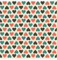 Retro heart pattern vector