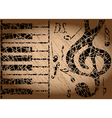 Old musical background vector