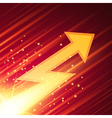 Abstract background with glowing arrow vector