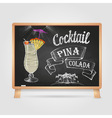 Chalk drawings cocktail vector