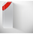 Abstract white box with red ribbon vector