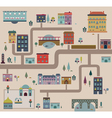 Set of city streets infographics vector