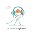 Acoustic engineer headphones vector