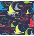 Seamless pattern with vintage decorative sailing vector
