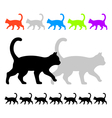 Cat ornament vector