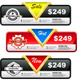 Set of sale labels vector