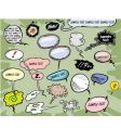 Cartoon speech bubbles vector