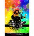 Rainbow disco flyer vector