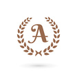 Letter a laurel wreath logo icon design template vector
