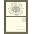 Halloween postcard template vector
