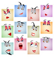Smile avatar icon emotion face set vector