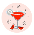 Retro red margarita vector