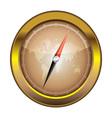 Gold retro compass vector