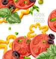 Vegetarian background organic natural food fr vector