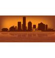Milwaukee wisconsin skyline vector