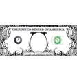 Tribal dollar bill vector