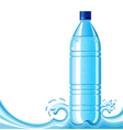 Bottle of clean water and splashing vector