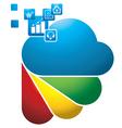 Digital cloud vector