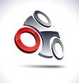 Abstract 3d icon vector