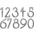Numbers fingerprint vector