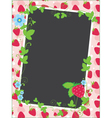 Strawberry frame and background vector