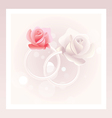 Wedding rings and roses vector