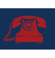 Hotline red phone vector