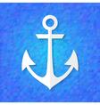 White anchor over blue vector