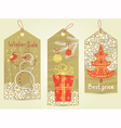 Christmas vintage tags vector