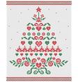 Christmas tree ornament seamless texture vector
