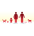 Happy growing family vector