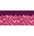 Red valentines day hearts horizontal seamless vector