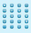 Set of mobile blue elements for ui game design set vector