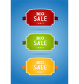 Set of colored boards with big sale sign vector