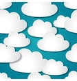 Seamless background with paper clouds vector