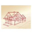 Plan a country house vector