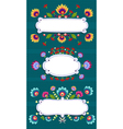 Frame banner with folk pattern vector