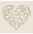 Abstract heart on a textured background vector