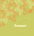 Butterfly summer vector