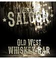 Wild west bar design vector