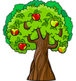 Apple tree cartoon vector
