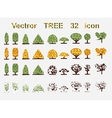 Set web icons tree and seasons vector