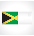 Envelope with jamaican flag card vector