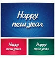 Three happy new year background with inscription vector