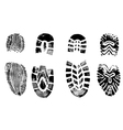 4 isolated bootprints - highly detailed of walking vector